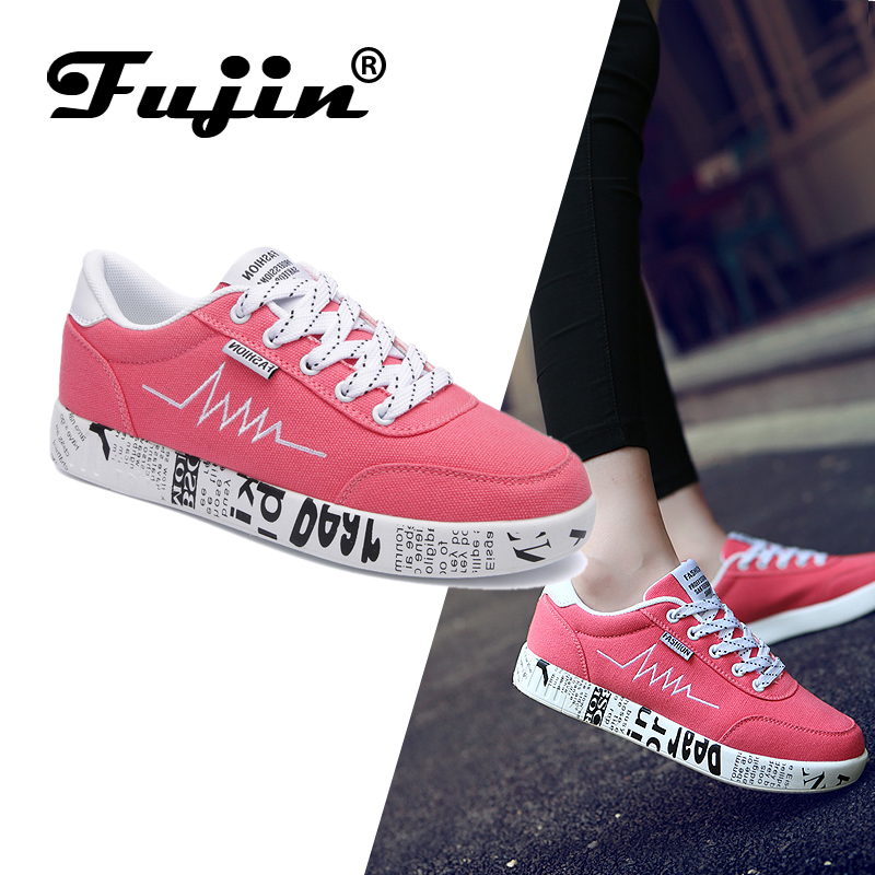 Fujin Shoes Fashion Autumn Sneakers Spring Woman Loafers Lady Mujer Zapatos Candy-Color