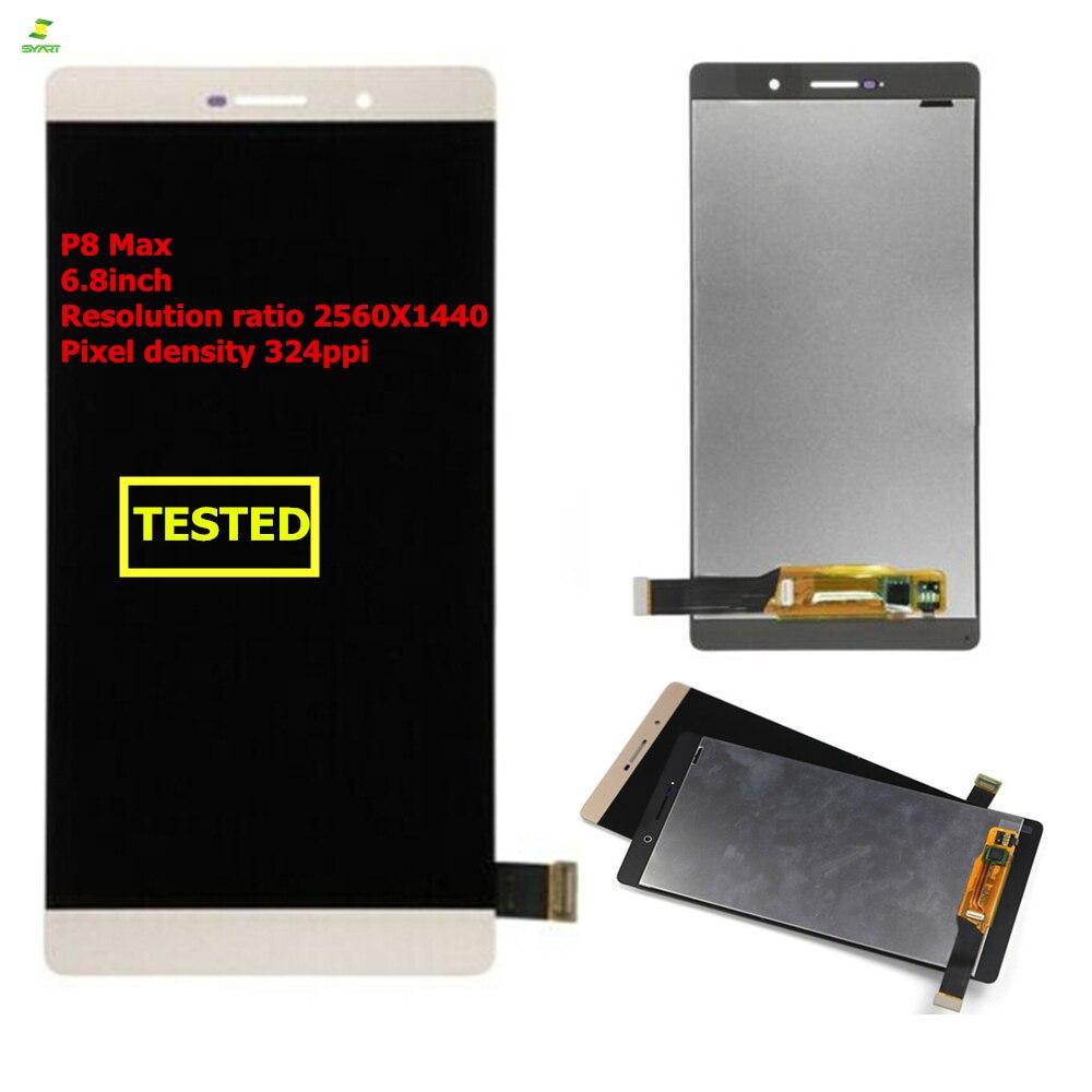 Nouvel ÉCRAN LCD Couleur Or Pour Huawei P8 Max DAV-703L DAV-713L 701L Affichage Remplacement de Convertisseur Analogique-Numérique D'écran Tactile d'affichage à cristaux liquides de pièces de rechange