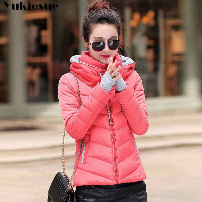 Plus size Winter XXXL Jacket Women hooded Solid Color Short Female Coat   Parka   Outwear For Women Jaqueta Feminina Inverno