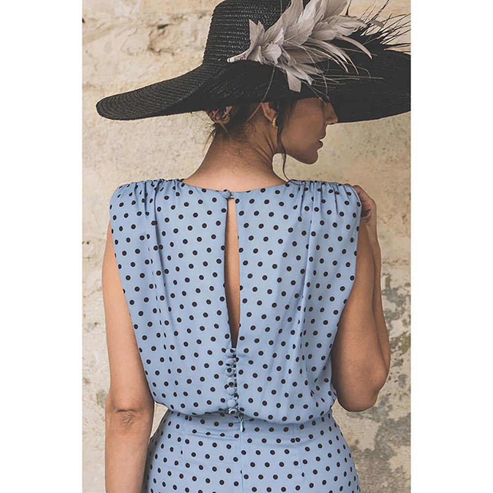 Wipalo ผู้หญิง Plus ขนาด Polka Dot Draped เซ็กซี่ Bodycon Vintage Retro ชุดดินสอ S-3XL Lady Work Vestidos