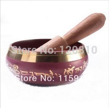Tibetan Copper Crafted Gold Gilt wonderful Chakra Singing Bowl Meditation