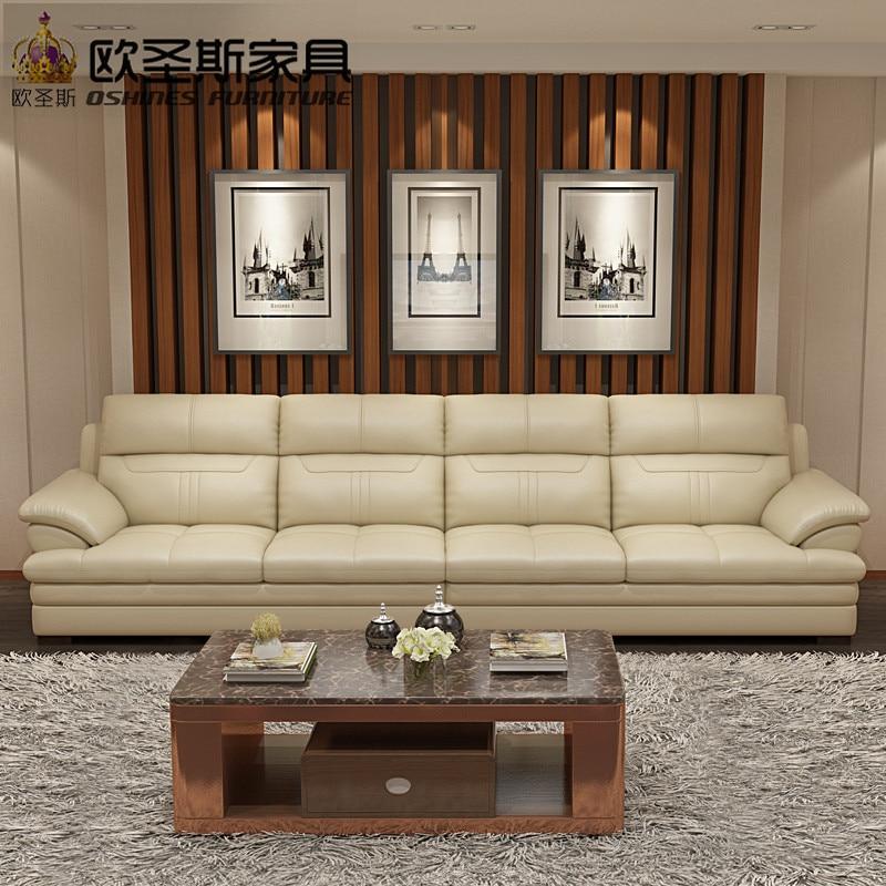 Soft Comfortable Livingroom Genuine Real Leather Sofa Set