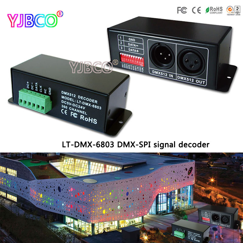 LT-DMX-6803 DMX-SPI Signal Led Decoder,Output digital driving IC such as LPD6803,LPD1101,D705,UCS6909,etc for led pixel strip цена