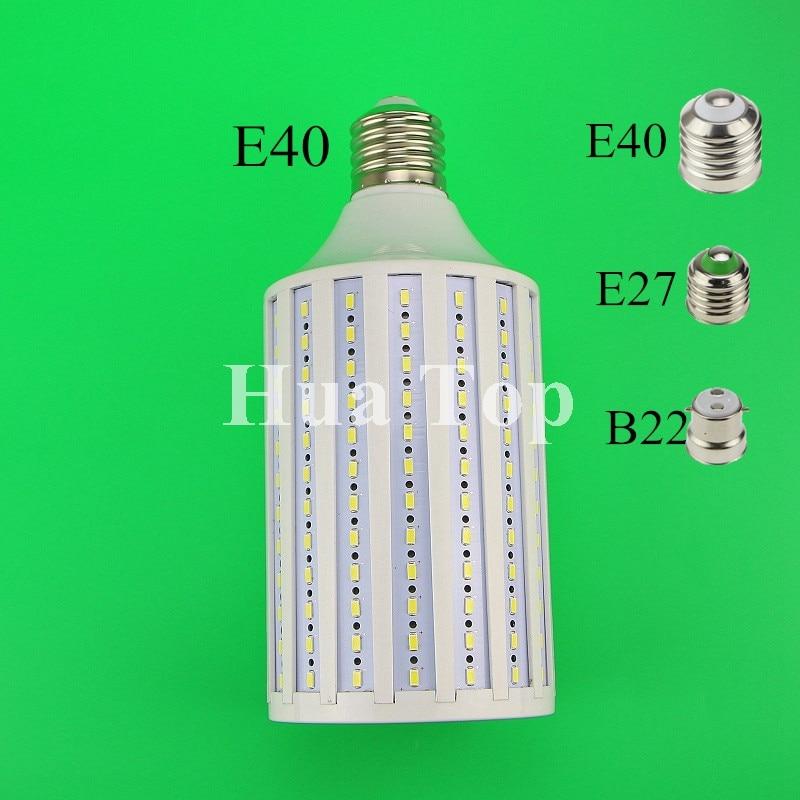 1pcs Lampada 80W LED Bulbs Lamp 5730 SMD E27 B22 E40 216 LEDs Warm White Corn Bulb Pendant Lighting AC85-265V Ceiling Corn Light