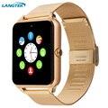 Gt08 langtek smart watch sincronização do relógio do bluetooth notificador sim suporte cartão tf conectividade apple iphone telefone android smartwatch