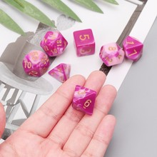 7 pcs Sided Dice Set D4 D6 D8 D10 D12 D20 Para D & D RPG Dungeons & Dragão Poli jogo 3(China)