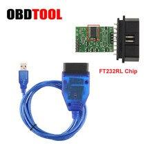 FT232RL CH340 Chip Optie Vag Usb Kabel OBD2 Diagnostische Usb Interface Obd 2 Obdii Auto Scan Obd Cord Voor Audi voor Vag Serie