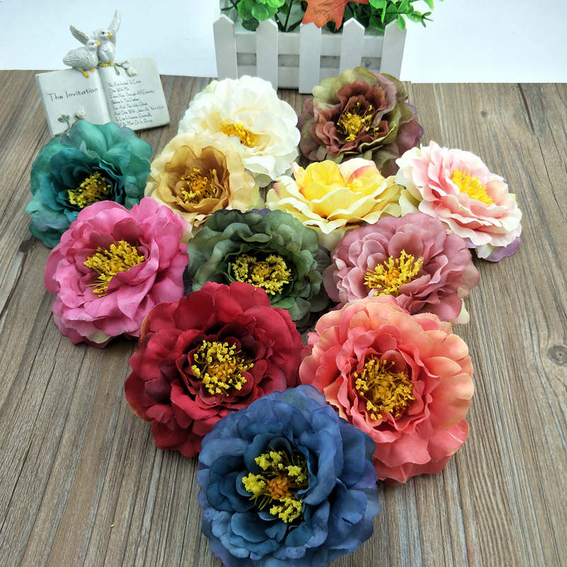 Royal Touch Artificial Silk Rose Peony Christmas Decorations Decoration  Home Decoration Flower In Wedding 1 PCS