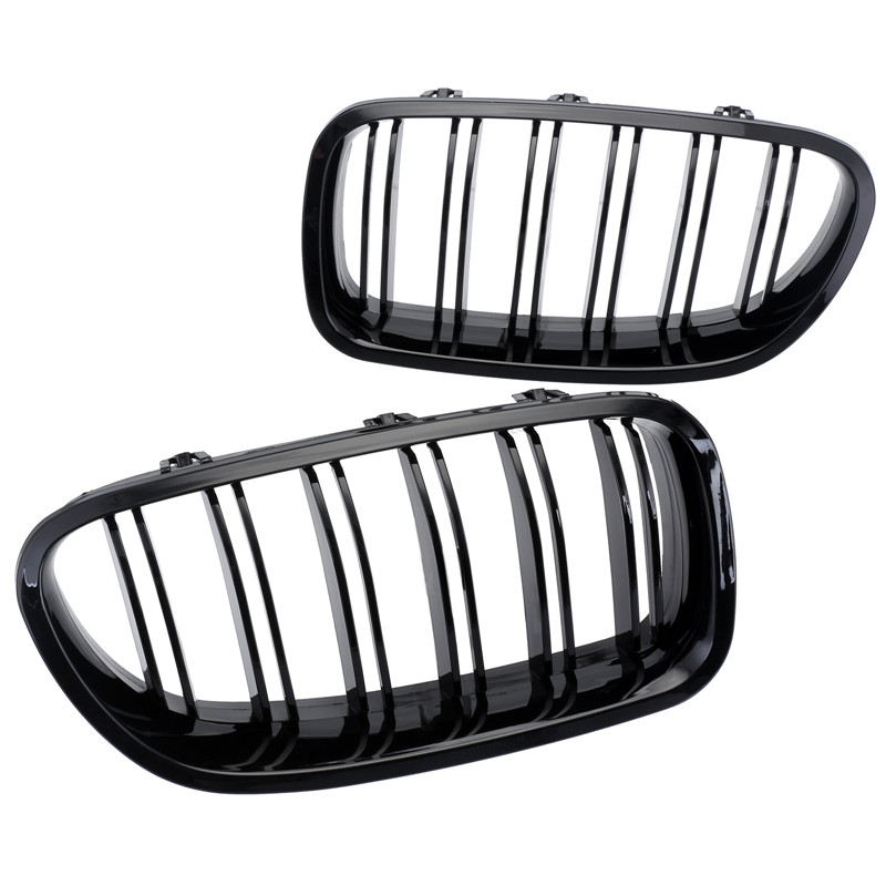 1Pair Gloss Black Front Kidney Grille Grills For BMW 10-14 F10 F18 M5 Free Shipping D10 купить аккумуляторные батареи varta cr 1 2 slf в рязани
