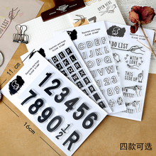 Silicone transparent seal mottled hand account English alphanumeric retro hand account decoration coloring letters DIY real account 4