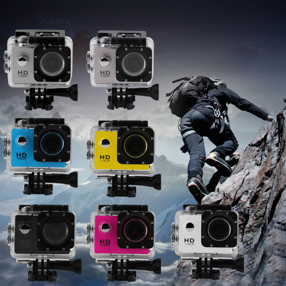 Full HD 2.0 inch 1080P 12MP Car Cam Sports DV Action Waterproof Camera Hot Selling