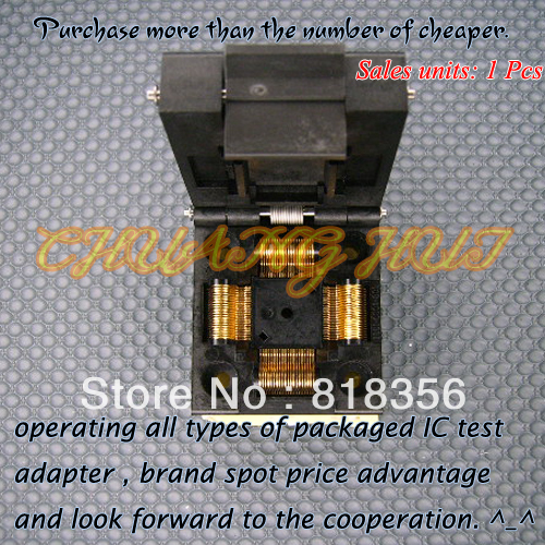 купить NEW IC51-0804-808 Socket QFP80/TQFP80 IC Test Burn-in Socket Adapter 0.5mm Pitch по цене 3809.33 рублей