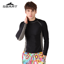 SBART UPF50 Rash Guard Males Lengthy Sleeve Rashguard Swim Shirt Surf Lycra Rash Guard Swimwear For Males Diving Wetsuit Prime