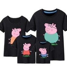 Папа тис мама семья летом футболка футболки животных печати детская хлопок