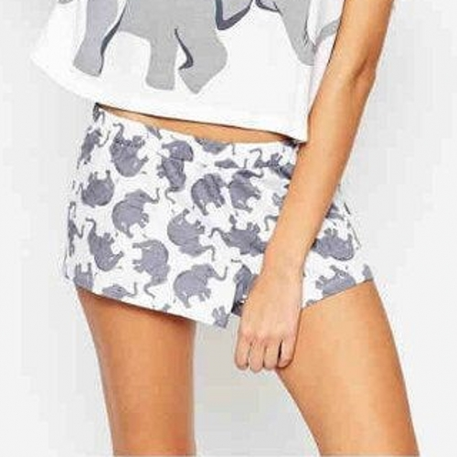 Aliexpress.com : Buy Cute Shorts Women Elephant Print Elastic Waist Comfortab...