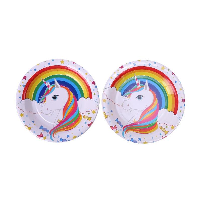 ... unicorn (7)  sc 1 st  AliExpress.com & GiveU New 80pcs/set Unicorn Party Supplies Kids Birthday Decoration ...