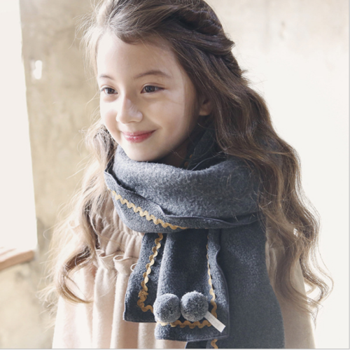 SMILEQ Cute Baby Scarf Toddler Autumn Winter Boys Girls Kids Fashion Knitted Long Neck Ball Warm Scarves
