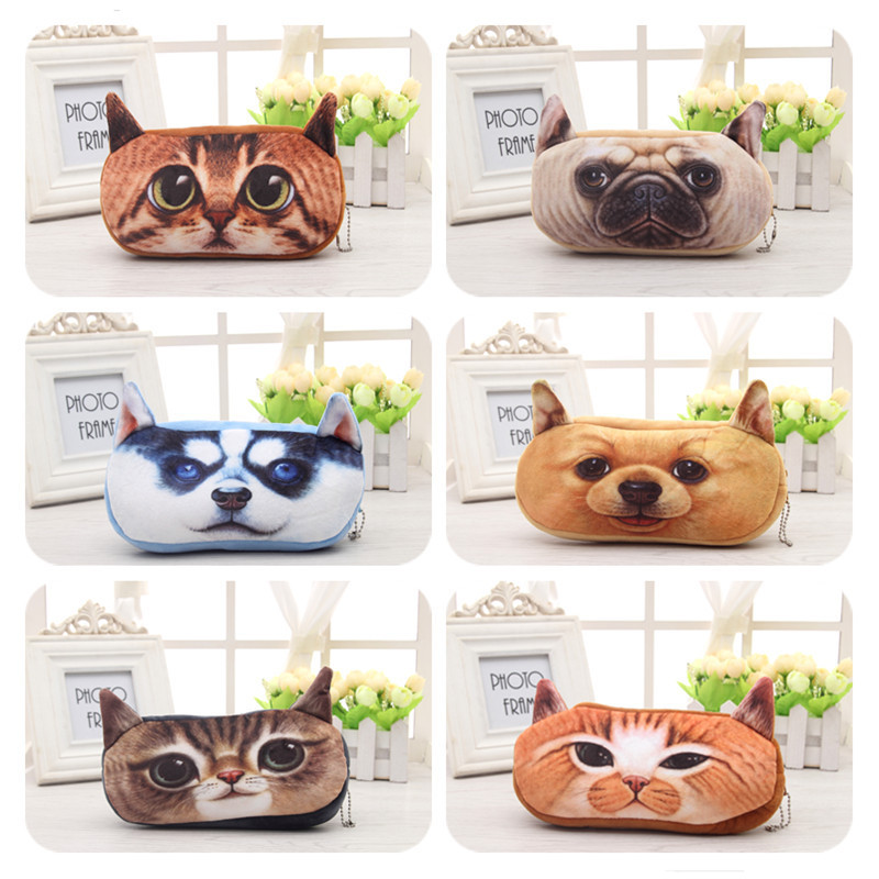 pencil case cat pencilcase 3D lapices material escolar pen pouch bag plush box school supplies trousse scolaire stylo papelaria