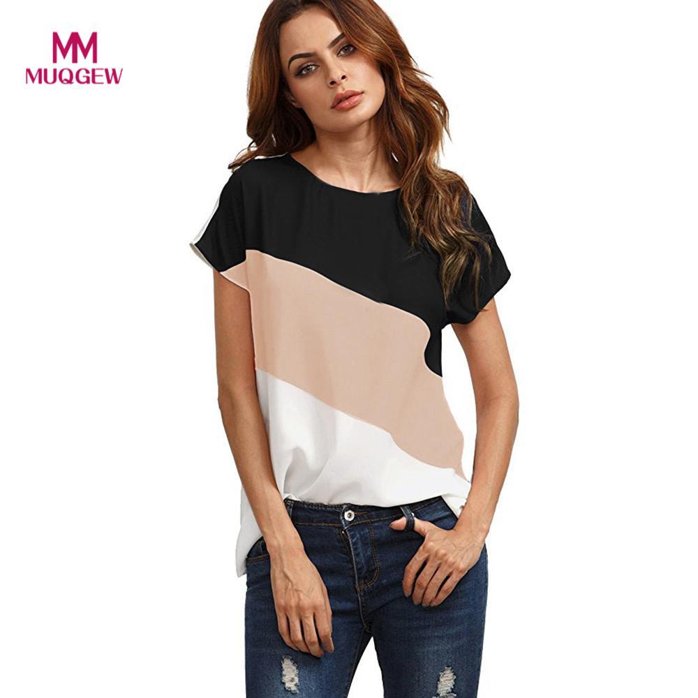Muqgew Tankinis Women 2019 Hot Style Fashion Daily Womens Casual Off Shoulder Tops Short Sleeve T Shirts Lose Tank Tops Uhren & Schmuck