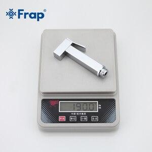 Image 5 - Frap Bidet Faucet Brass Shower Tap Washer Mixer Muslim Ducha Higienica Cold & Hot Water Mixer Crane Square Shower Spray F7506