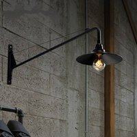 Loft RH Industry Long arm Restaurant Wall Lamp Retro Warehouse Wall Light Coffee Shop Decoration Light Bar Light With Led Bulbs