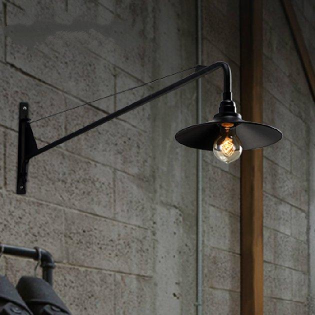 Loft RH industrie longue-bras Restaurant applique rétro entrepôt applique murale café magasin décoration lumière Bar lumière avec ampoule LED