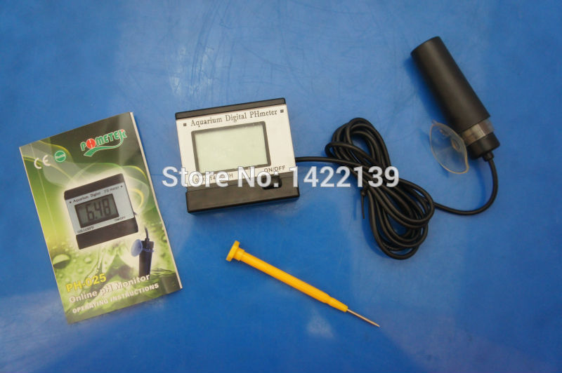 pH-025 Mini PH Meter - Portable Digital Monitor Aquarium Electrode Tester