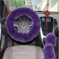 Fur Pink Warm Car steering wheel cover Winter Black Auto Interior Accessories 38cm Automobiles Steering wheel Covers