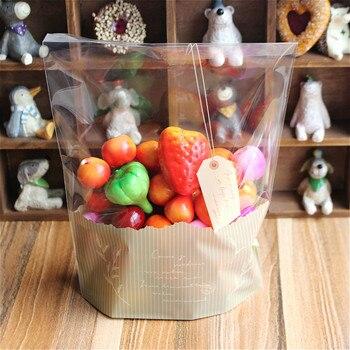 Darmowa wysyłka 200 sztuk/partia rozmiar 18*24 cm dół 4 cm śliczne Hangtag wzór plastikowa torba dla żywności ciasteczka Bisuit