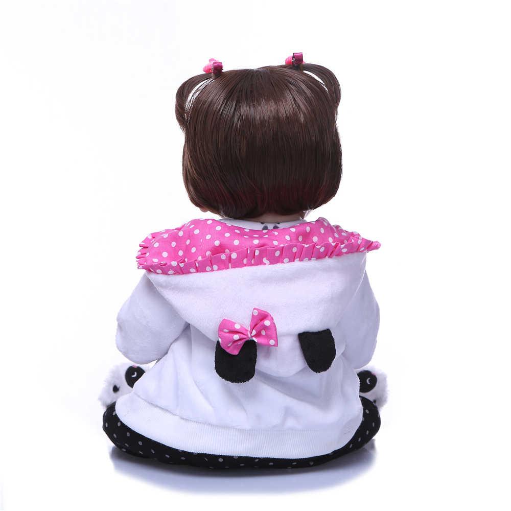 """NPK 50 см 20 """"полная силиконовая кукла Reborn Baby ручной работы BeBes Reborn игрушка для девочек новорожденная девочка подарок на день рождения для ребенка"""
