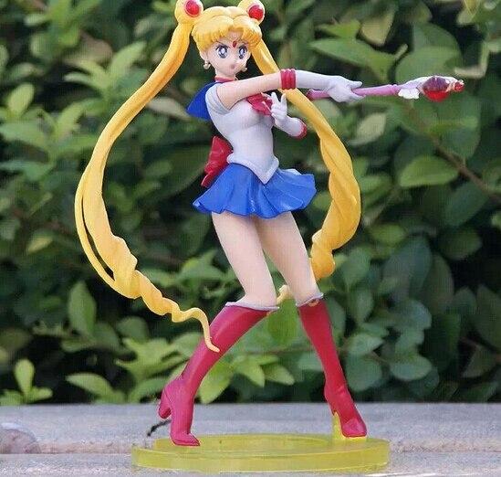 Sailor Moon Zero Figure PVC 200mm Sailor Moon Action Figure  Sailor Tsukino Usagi Collectible Model Toy Anime Sailor Moon Toys anime cartoon zero pretty guardian sailor moon tsukino usagi 20th anniversary pvc action figure collectible toy 21cm