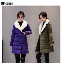 2017 Winter Jacket Women Womens Mid-Long Thick Coats Parkas Winter Long Parka Warm Solid Color Jacket winter coat women DDP005