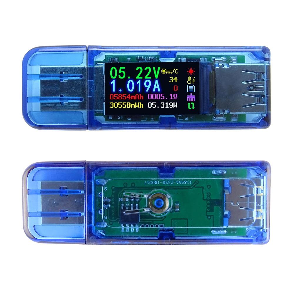 AT34 Power Bank LCD Multimeter Voltage Current Meter USB 3.0 Resistance Tester