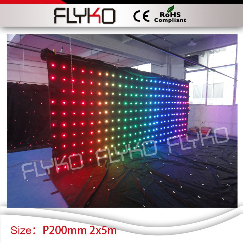 цена на imaging light dmx controller led dj booth 2m high*5m width indoor xxx video curtain P20
