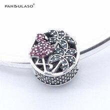 Pandulaso tropical Flamingo pavimentada Amuletos cuentas 925 joyas de plata esterlina DIY que hace la plata apta pulsera y collar