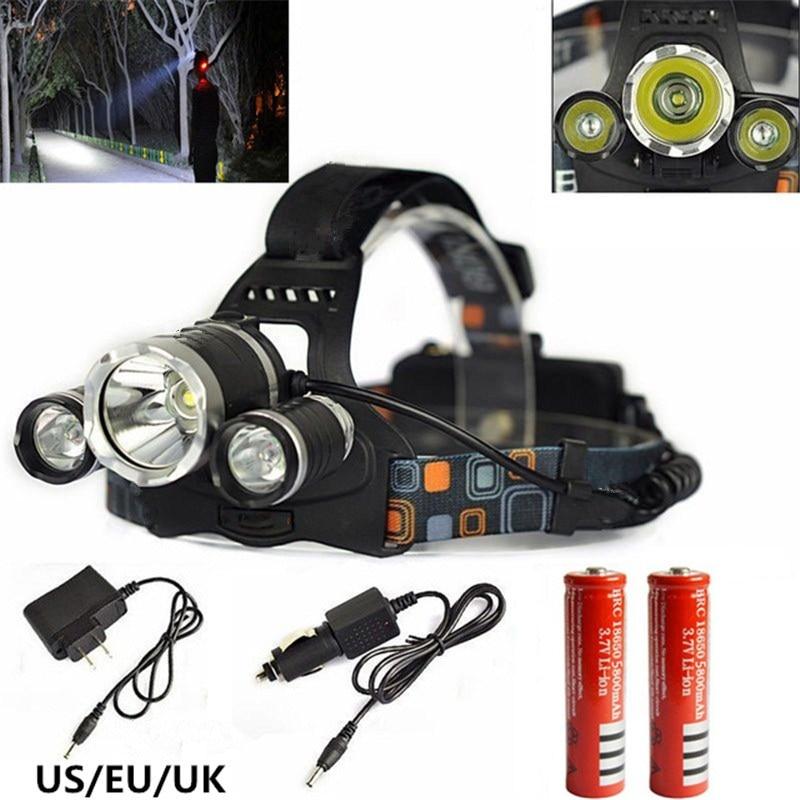 6000LM XM-L T6 Hoofdlamp High Power LED Koplamp 4 Modus LED Koplamp + - Draagbare verlichting