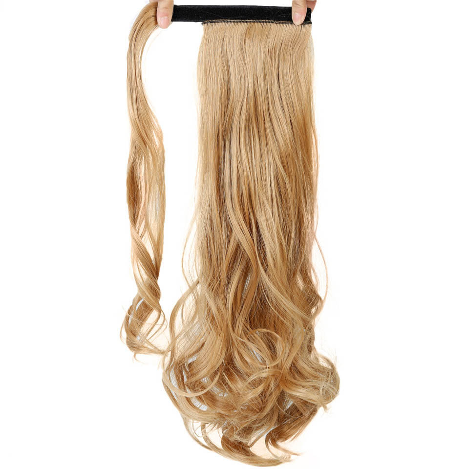 Synthetic Extensions Hair Extensions & Wigs Soowee 24inch Long Blonde Red Wavy Pony Tail High Temperature Fiber Claw Hairpiece Ponytail Synthetic Hair Extensions Keep You Fit All The Time