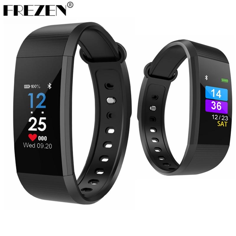 FREZEN I9 Smart Bracelet Heart Rate Monitor Blood Pressure Fitness Tracker Waterproof Smart band Sport Watch for IOS Android