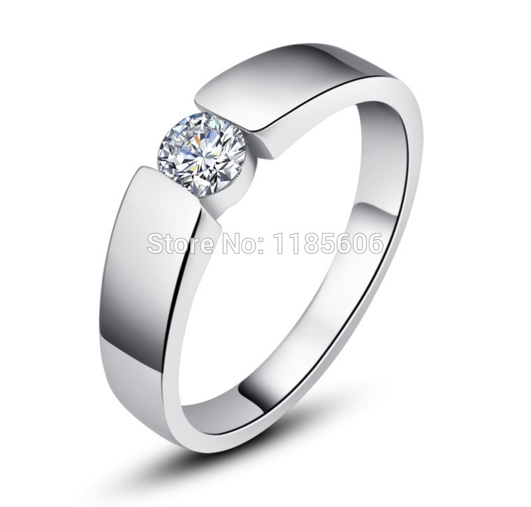 807672eace 925 Sterling Silver ring for woman Hearts and Arrows Zircon couple ring  silver ring eternal vows mens Tail ring-in Rings from Jewelry & Accessories  on ...