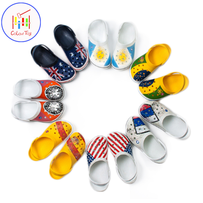 Big Boys Sandals Shoes National Flag Hole Croc Shoe 39-44 Size Kids Slippers Men Women Beach Outdoor Home Daily Wear wwd women s wear daily 2012 11 26