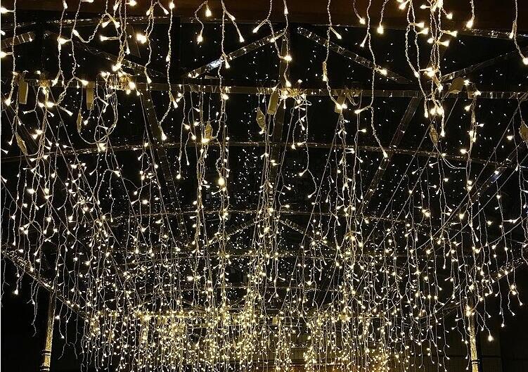 led luzes de natal ao ar livre