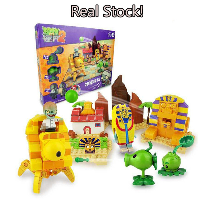 Plants vs Zombies 050302 Mysterious Egypt Building Bricks Blocks anime action figures My world Minecraft Toys for children gifts new arrival plants vs zombies plush toys 30cm pvz zombies soft stuffed toy doll game figure statue for children gifts party toys
