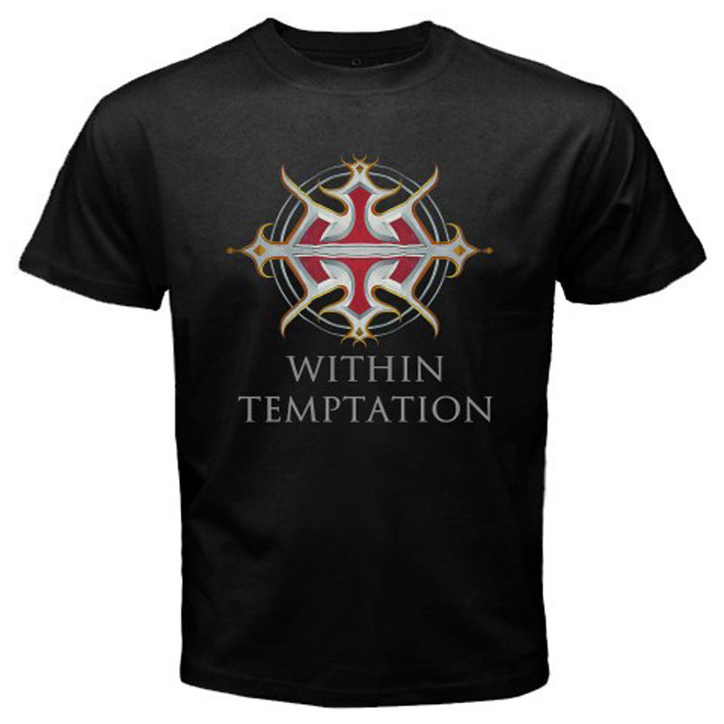 New Within Temptation Metal Rock Band Men's White Black T-Shirt Size S To 2XL Fashion Men And Woman T Shirt Free Shipping
