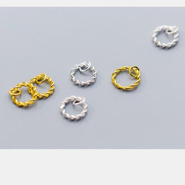Фото uqbing модный кулон в виде крученого кольца из золота и серебра цена