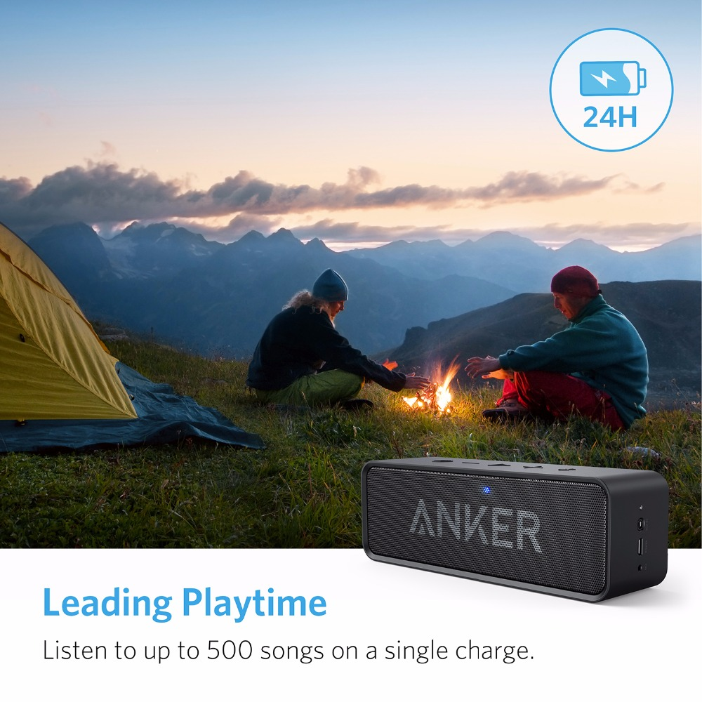 Anker Soundcore Portable Wireless Bluetooth Speaker with Dual-Driver Rich Bass 24h Playtime 66 ft Bluetooth Range & Built-in Mic 4