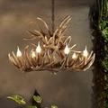 Американский Европейский кантри ветка старинный ретро LED подвесной светильник лампа оленьи рога современный потолочный подвесной светиль...