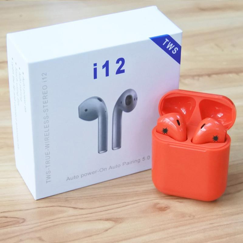 Touch Control I12 Tws Wireless Bluetooth 5 0 Earphones 3D Super Bass  Headphones Pk I10 Tws I20 Tws I30 I60 TWS For Xiaomi Iphone