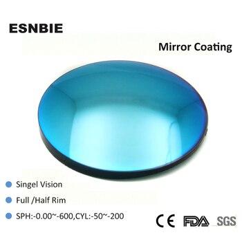 98933aef2 Esnble 1,56 índice lente de color de moda para gafas de sol lentes ópticas  cristales de gafas azules verdes de 80 MM de diámetro