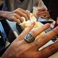 Europa e nos estados unidos anel retro titanium aço inoxidável dos homens jóia triângulo gótico na moda anel anéis dos homens de personalidade