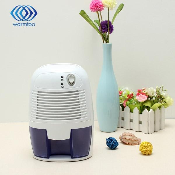 ФОТО 500ML Mini Dehumidifier 9V 2.5A Portable Mini Desiccant Electronic Semiconductor Intelligent Dehumidifier Compact Air Dryer